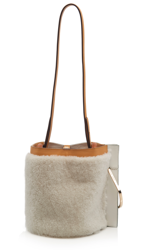 bucket bag Danse Lente Shearling Bobbi Bucket Bag