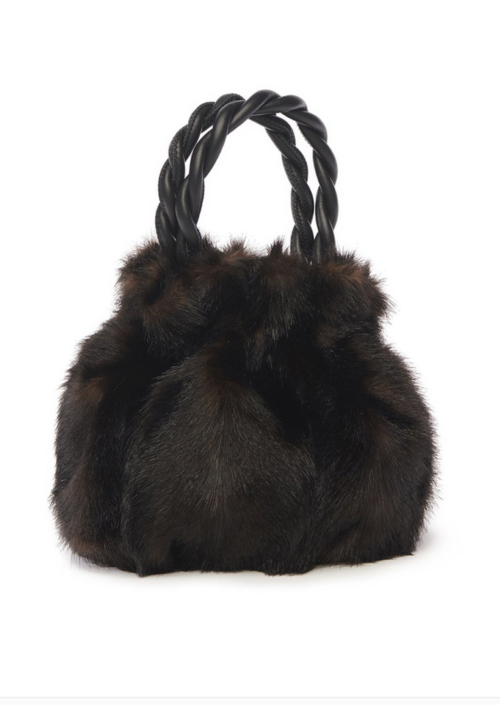 GRACE BAG | BROWN FAUX FUR