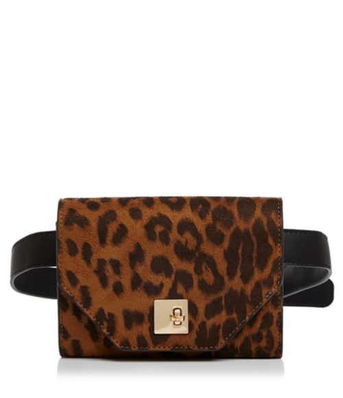 AQUA Medium Leopard-Print Belt Bag