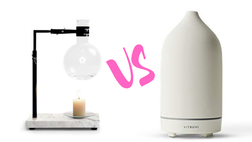 essential oil burner VS diffuser