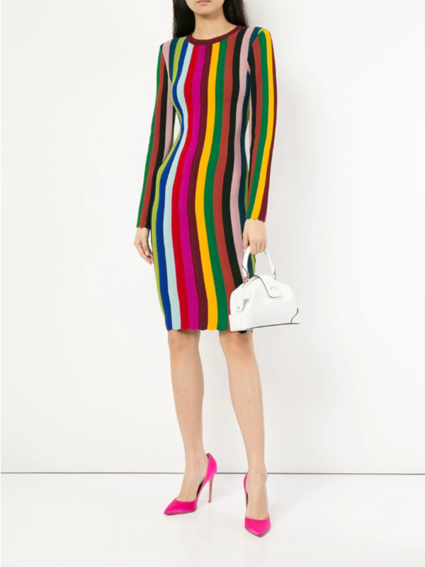 MILLY striped knit dress