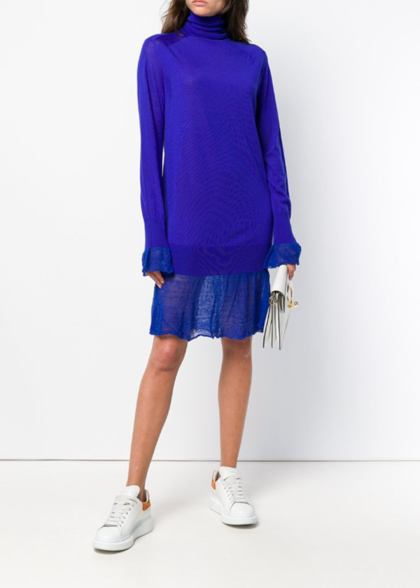 SACAI turtle-neck sweater dress
