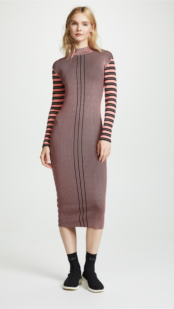 McQ - Alexander McQueen Ribbed Midi Dress