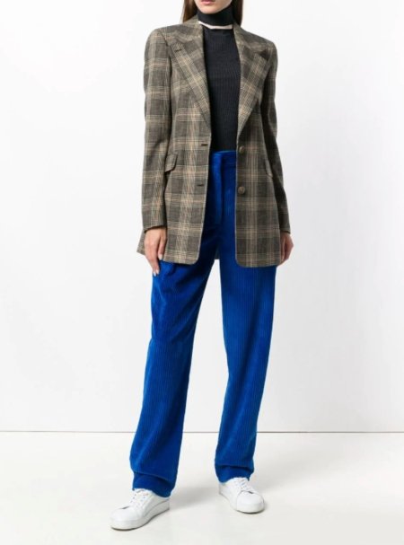 CÉDRIC CHARLIER high-rise corduroy trousers