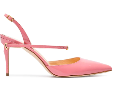 JENNIFER CHAMANDI Pink Vittorio 85 patent leather pumps HK$5,184