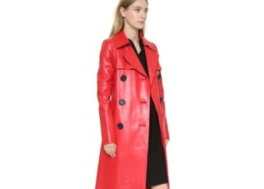 Leather Trench Coat Is the Must-Have of the Season
