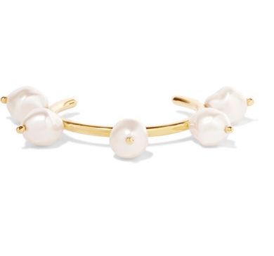 BEAUFILLE Brixton gold-plated faux pearl cuff