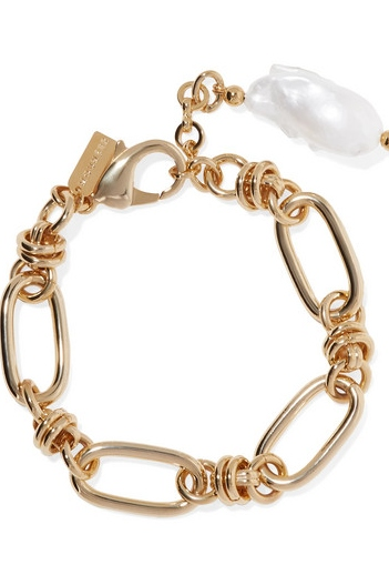 MOUNSER Hops gold-plated pearl bracelet