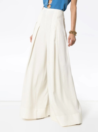 JACQUEMUS high-waisted wide leg pleated trousers HK$4,430
