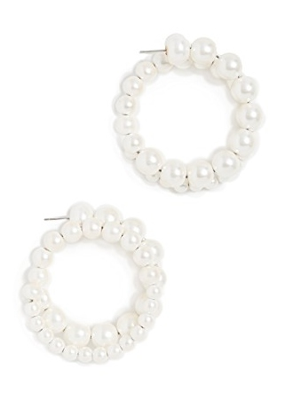 Diana Broussard Pearl Medium Loop Earrings