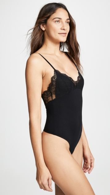 Only Hearts Lined Lace Cup Bodysuit