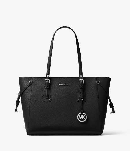 1. Michael Kors Voyager Medium Crossgrain Leather Tote Bag