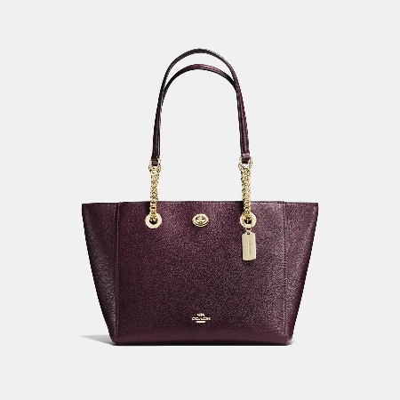 Coach Turnlock Chain Tote Bag