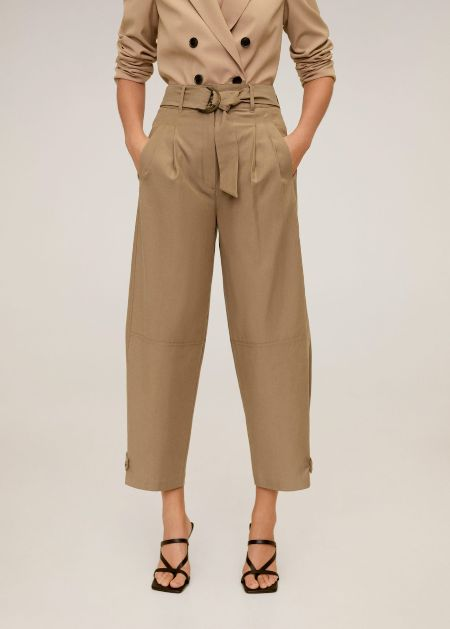 Mango Cotton baggy trousers