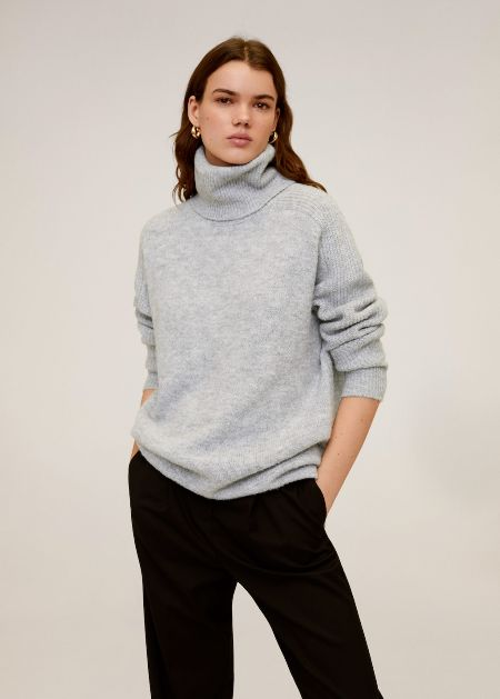 Mango Turtle neck oversize sweater